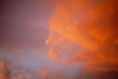 Sunset 1. Sunset orange clouds Royalty Free Stock Photo