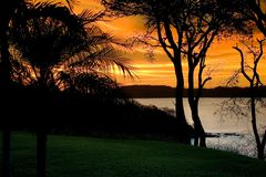 Sunset 1. Sunset on Gulf of Papagayo in Costa Rica Royalty Free Stock Photography