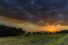 Sunset5 Royaltyfri Bild