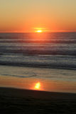 Sunset. Over the Ocean Royalty Free Stock Photo