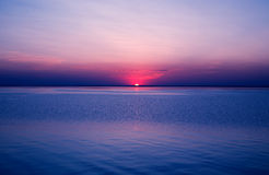Sunset. Evening coast on the sea of Altai stock images