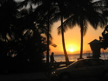 Sunset. Beatiful Sunset at Waikiki Beach stock photography