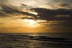 Sunset. Very Beautyfull Sunset in ocean Stock Photography