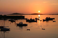 Sunset. Isles of Scilly, Cornwall Stock Image