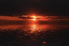 Sunset. Evening red sunset of a sun Stock Photo