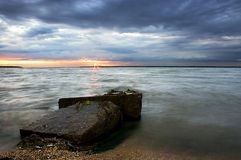 Sunset. In the Black Sea Royalty Free Stock Image
