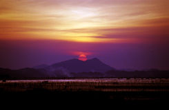 Sunset. A photo of  sunset, Photo by film, location is in China Stock Photography