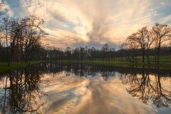 Sunset湖 库存图片