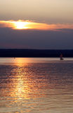 Sunset. On ammersee lake in germany Stock Image