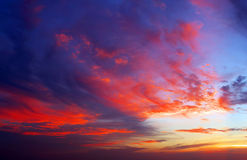 Sunset. These are crimson clouds at sunrise or sunset Royalty Free Stock Photos