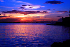 Sunset. Beautiful Sunset at San Juan Bay Royalty Free Stock Images