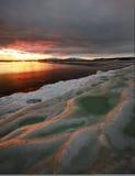 ...sunset. Magadan, Russia, January, Canon 5D Mark II + Canon EF 16-35 mm f2.8 Stock Photography