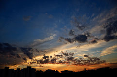 Sunset. In Sao Paulo city, Brazil Stock Images