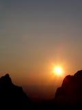 Sunset. Big bend, texas Stock Photos