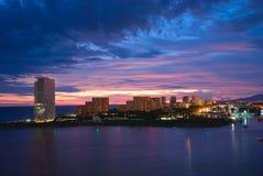 Sunset. Beautiful sunset in Puerto Vallarta, Mexoco Royalty Free Stock Photo