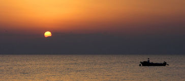 Sunset. In Halkidiki, Kassandra, Greece Royalty Free Stock Image