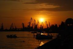 Sunset. On the Azov sea (Berdyansk Royalty Free Stock Photography