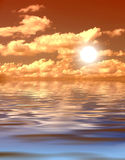 Sunset. It's a sunset over a tropical ocean Stock Photo