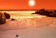 Sunset. It's a photo of a beautiful sunset Stock Image