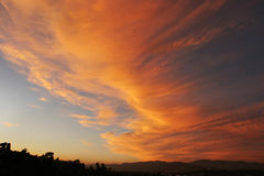 Sunset. In Southern California Royalty Free Stock Photo