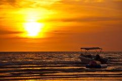 Sunset. The evening light at Chao Lao Beach Chantaburi Thailand Stock Photos