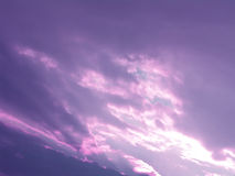 Sunset. Sky and clouds Royalty Free Stock Photos