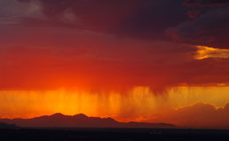 Sunset. With stormy weather over Salt Lake Valley Stock Photos