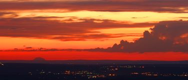 Sunset. At Dead Mans Pass Vista, Oregon, USA Royalty Free Stock Image