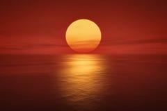 Sunset. An image of a beautiful sunset over the ocean Stock Photos
