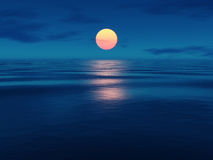 Sunset. An image of a beautiful sunset over the ocean Royalty Free Stock Photos