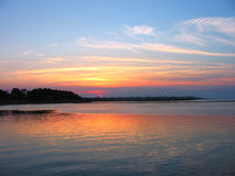 Sunset. By the sea Stock Photography