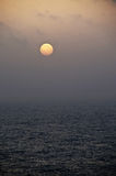 Sunset. A minimalistic, atmospheric sunset shot above the ocean Royalty Free Stock Photography