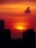 Sunset. Beautiful sunset over a city. Please see similar photos in my portfolio Stock Photo