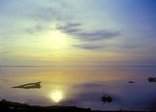 Sunset. Beautiful sunset on the lake Royalty Free Stock Images