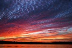 Sunset. A beautiful sunset on Lake Orange royalty free stock images