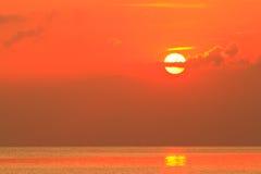 Sunset. Beautiful sunset light on sea Royalty Free Stock Photography