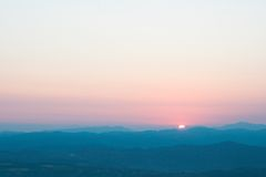 Sunset. Mountains in the sunset light royalty free stock photo