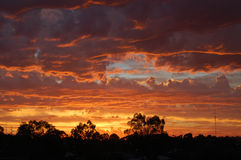 Sunset. And clouds in Western Australia Stock Image