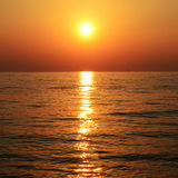 Sunset. Romantic sunset on the sea Royalty Free Stock Photography