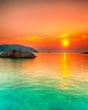 Sunset. Over the sea. Con Dao. Vietnam Stock Photography