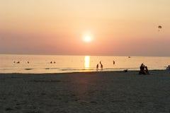 Sunset. The sunset royalty free stock photo