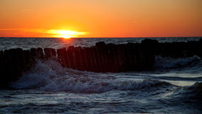 Sunset. Baltic sea, Russia Stock Images