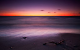 After sunset. One of the most beautiful places of Russia's Baltic coast Stock Photography