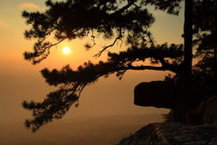 Sunset. Phukradueng National Park of Thailand Stock Image