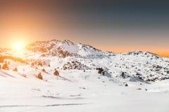 Sunset. Beautiful sunset in the mountains Stock Photo