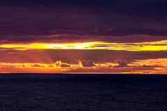 Sunset. A sunset taken from west Cornwall uk Stock Photography