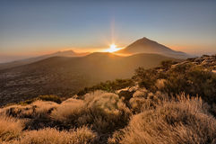 Sunset. In Teide National Park,Tenerife Island Stock Photography