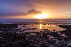 Sunset. In south Tenerife. Canary Islands Royalty Free Stock Photos