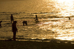 Sunset. Sea summer  landscape from Baltic Sea Poland Royalty Free Stock Photos