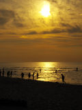Sunset. Sea summer  landscape from Baltic Sea Poland Royalty Free Stock Images